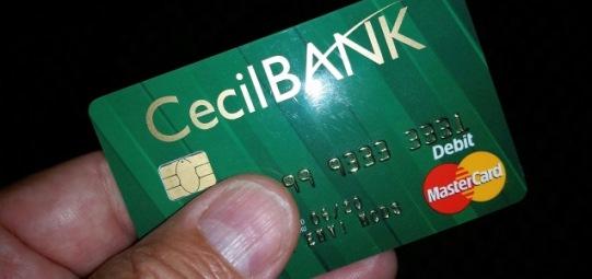 Cecil Bank Debit Chip Card - Website
